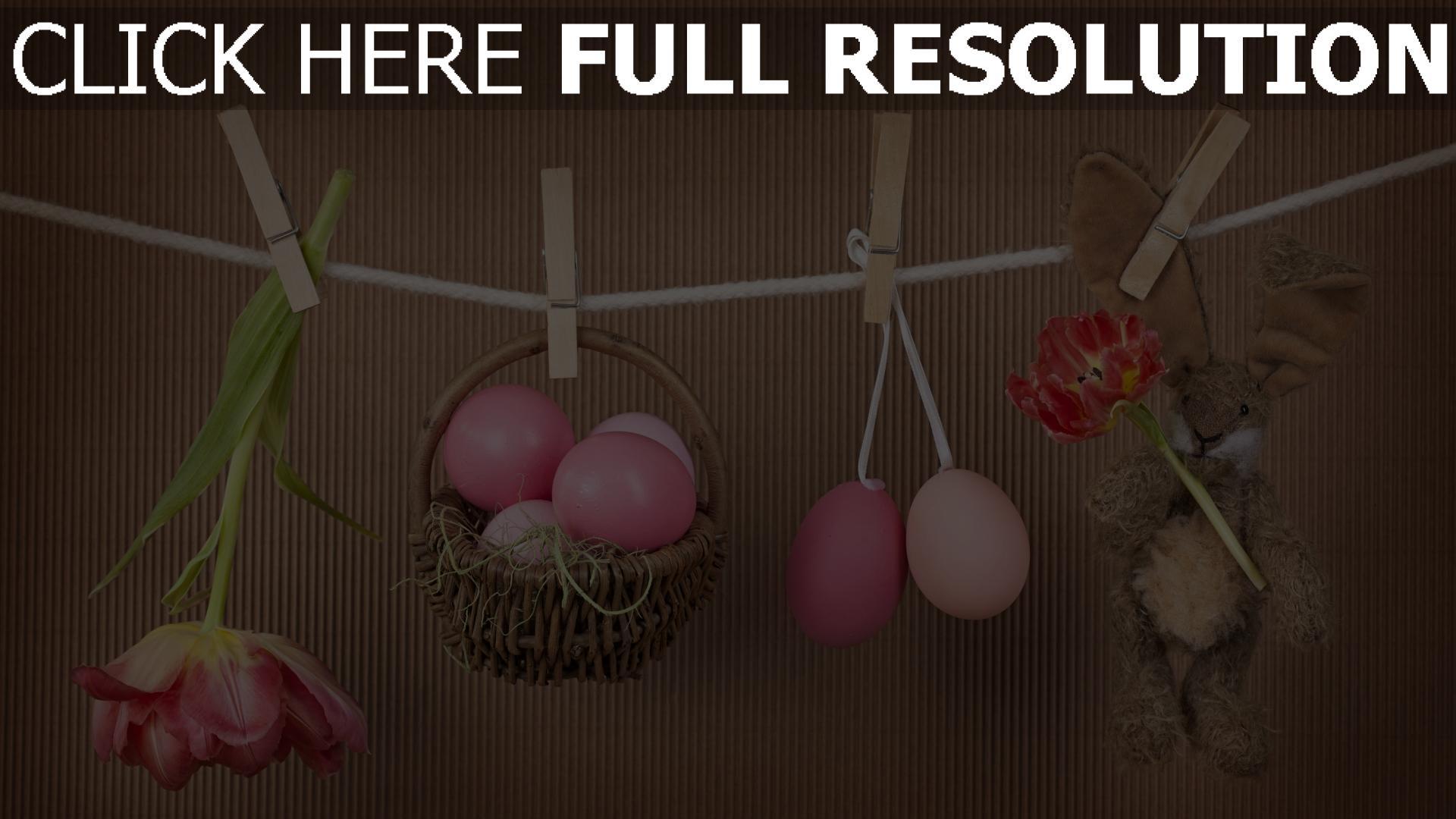 Ostern Hintergrundbilder Kostenlos hd hintergrundbilder korb eier häschen tulpen ostern frühling