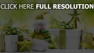schneemann geschenke sterne neues jahr weihnachten