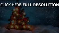 weihnachten schnee fichte girlanden spielzeug