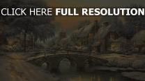 winter schnee fluss brücke weihnachten silvester