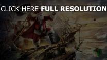 schiffe meer kampf santa piraten