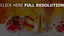 kerzen spielzeug dekorationen neujahr weihnachten
