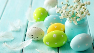 ostern eier tisch dekoration feiertag