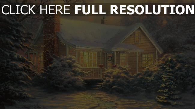 hd hintergrundbilder haus winter schnee urlaub tanne weihnachten