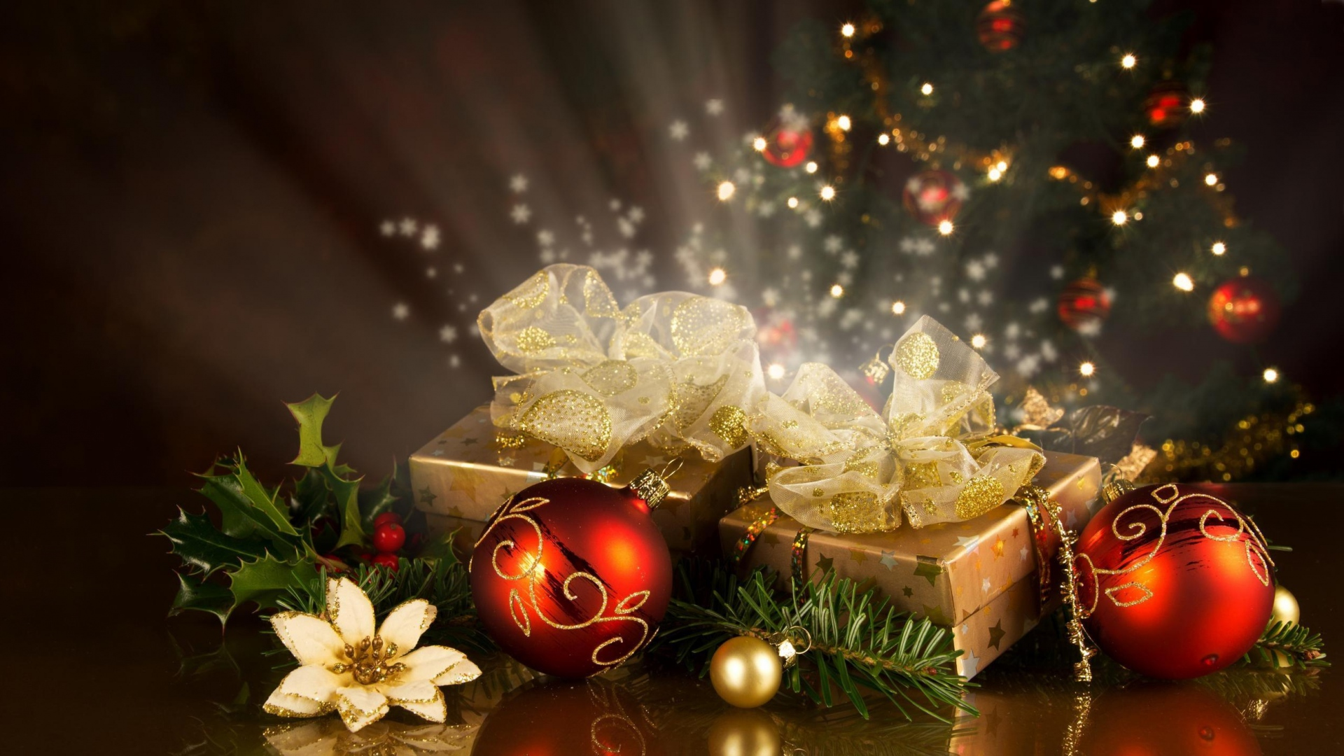 Weihnachten Hd Bilder.Hd Hintergrundbilder Weihnachten Feiertag Dekorationen Geschenke