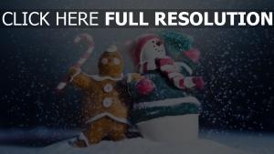 schnee schneemann cookies fest weihnachten