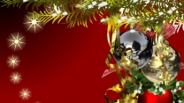 fichte nadeln dekorationen luftballons spielzeug neujahr