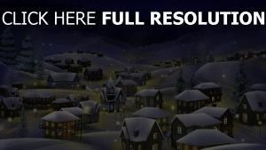 winter schnee stadt nacht feiertag weihnachten