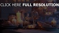 kerzen gläser silvester weihnachten tisch
