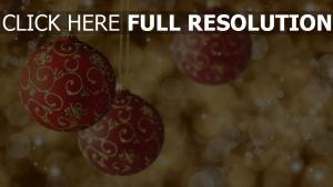 neujahr ornamente verzierungen kugeln feier