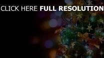 fichte ornamente girlanden sterne weihnachten