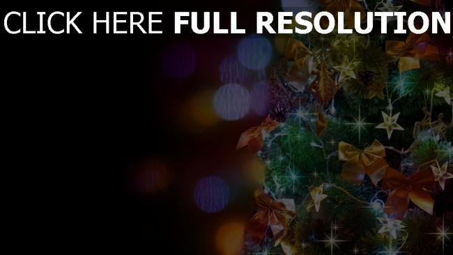 hd hintergrundbilder fichte ornamente girlanden sterne weihnachten