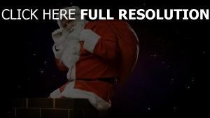 weihnachtsmann tasche bart schornstein weihnachten