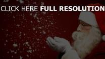 santa claus schnee urlaub weihnachten