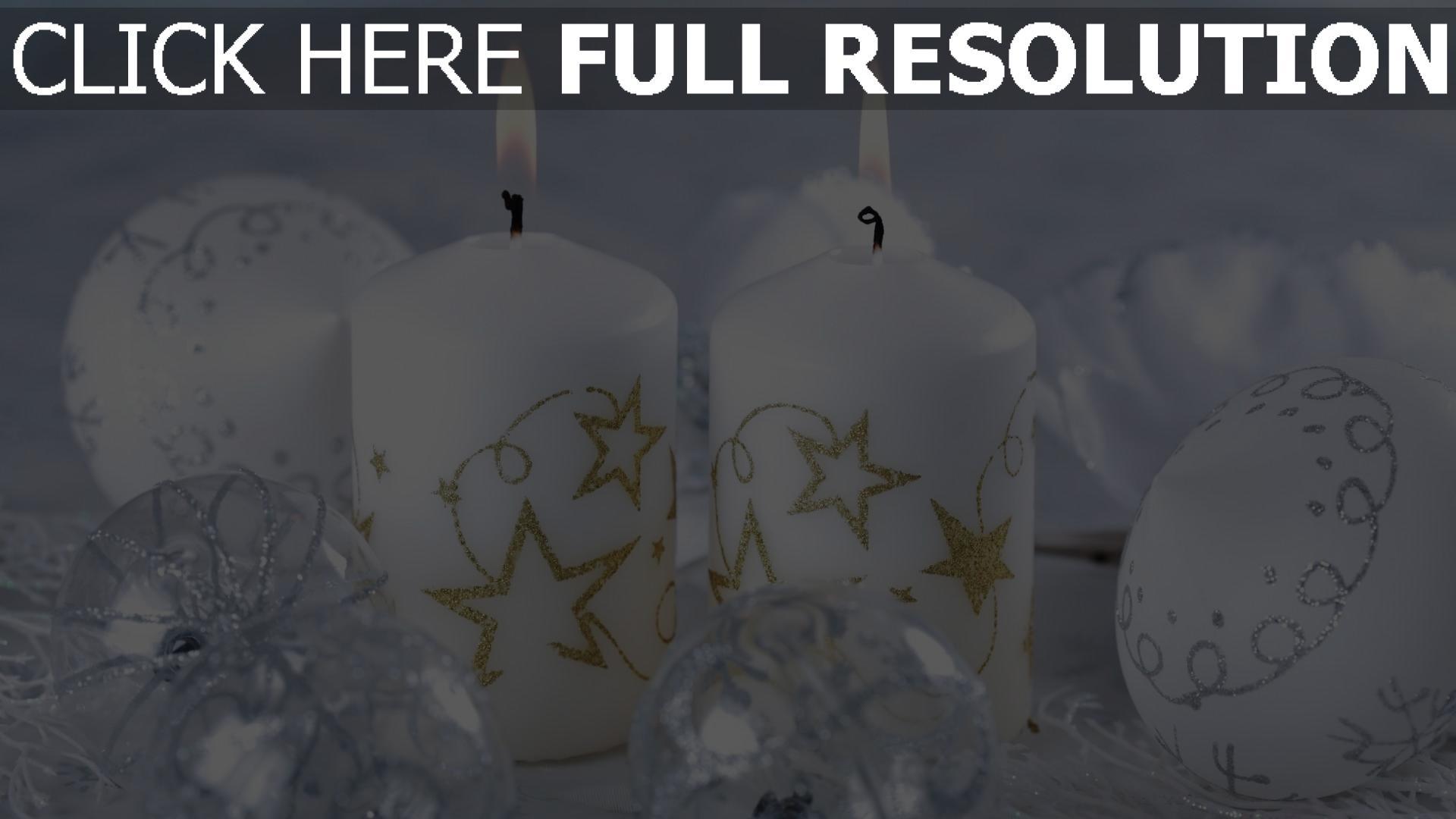 Hd Hintergrundbilder Kerzen Dekoration Feiertag Neujahr