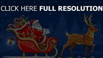 zeichnung karte weihnachten weihnachtsmann rentier