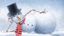 zeichnung schnee winter schneemann karte