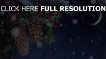 schnee fichte nadeln zapfen weihnachten
