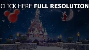 disney schloss mond schnee winter weihnachtsmann