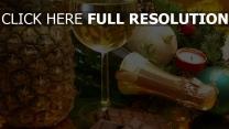champagner schokolade weinglas ananas urlaubs