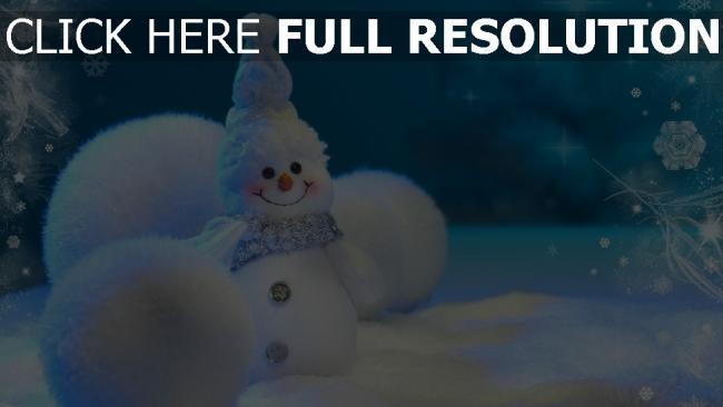 hd hintergrundbilder schneemann schnee winter neujahr weihnachten
