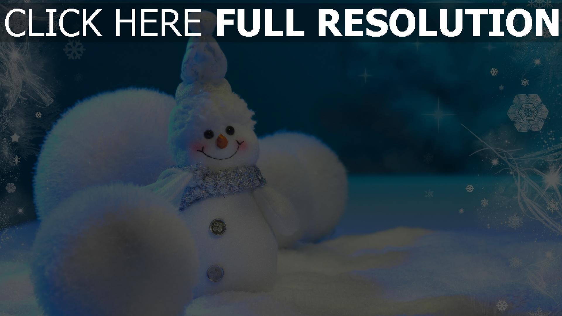 HD Hintergrundbilder schneemann schnee winter neujahr weihnachten ...