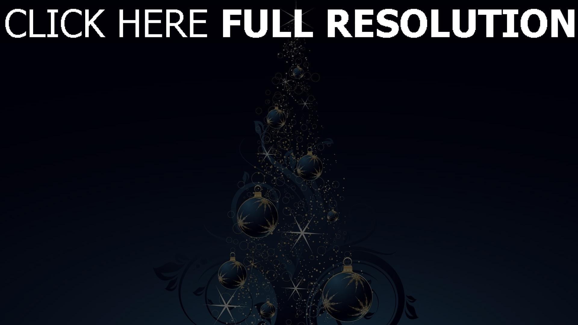 hd hintergrundbilder weihnachten tanne dekoration glitter 1920x1080