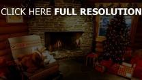 haus weihnachten fichte kamin spielwaren