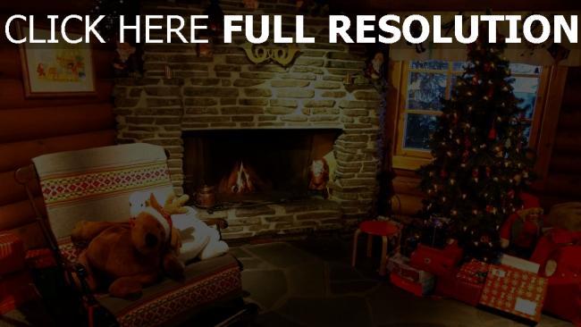 hd hintergrundbilder haus weihnachten fichte kamin spielwaren