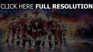urlaub weihnachtsmann nacht stadt sterne