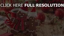 weihnachten lebkuchenmänner kaffee spielzeug