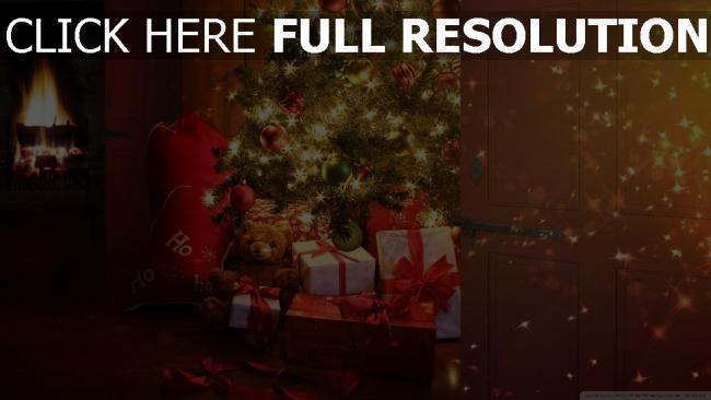 hd hintergrundbilder weihnachten weihnachtsbaum geschenke spielzeug haus