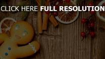 weihnachten lebkuchenmann süßigkeiten orange