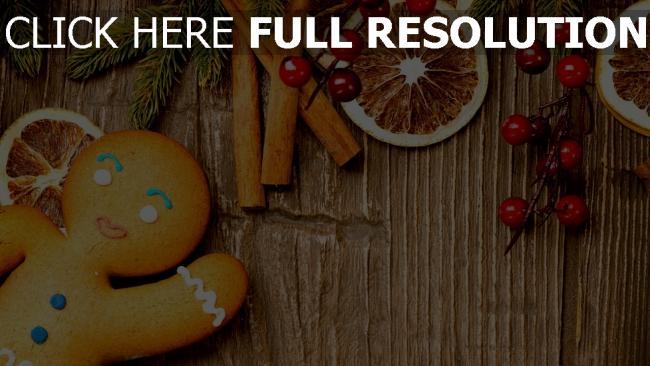 hd hintergrundbilder weihnachten lebkuchenmann süßigkeiten orange