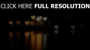 romantik herz licht boke