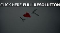 liebe romantik zeichen buchstaben papier