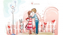 liebe romantik paar kuss