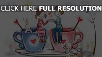 valentinstag paar kaffee romantik