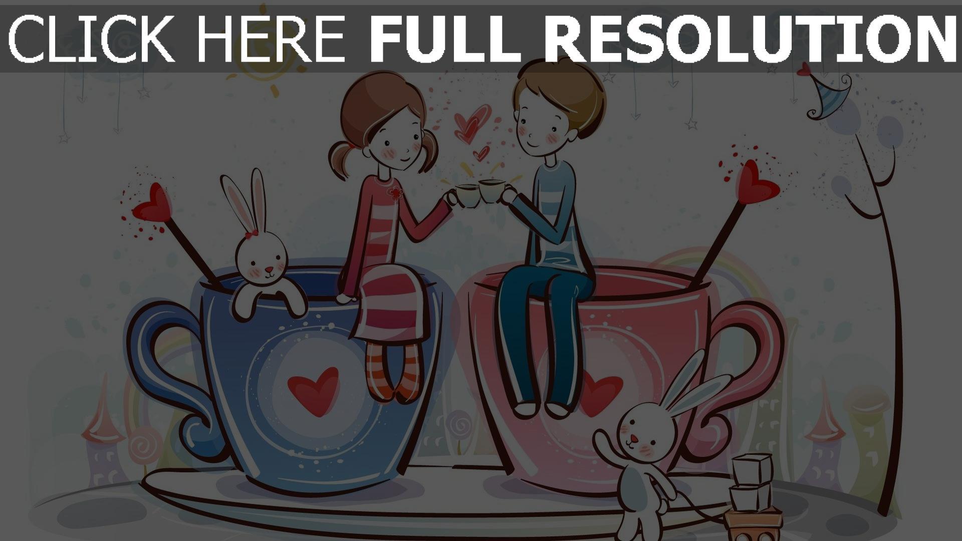 Hd Hintergrundbilder Valentinstag Paar Kaffee Romantik Desktop