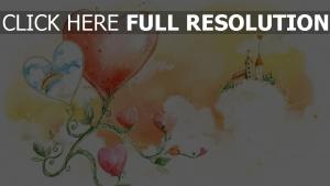 valentinstag herz romantisch wolke