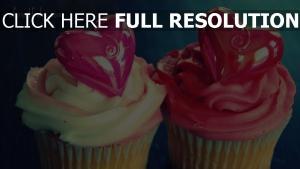 liebe herz muffin sahne dessert romantik