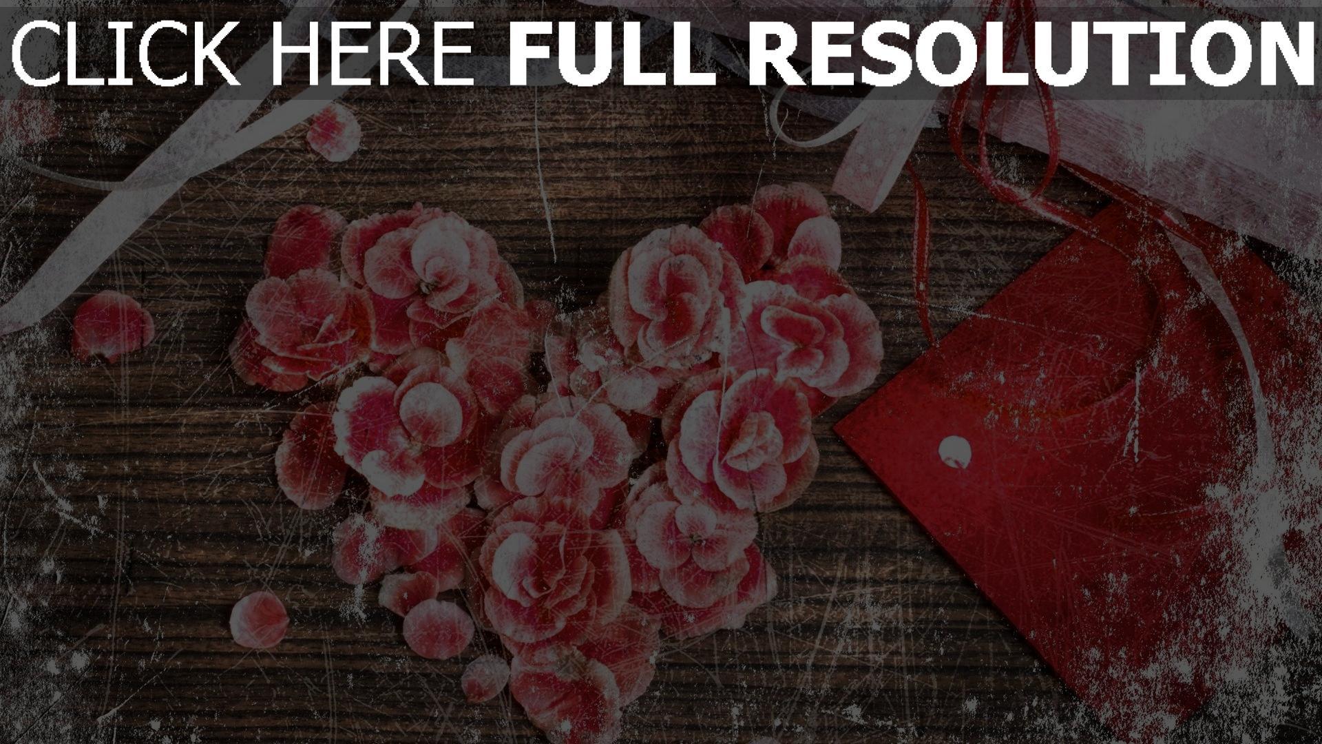 Herunterladen Hd Hintergrundbilder Valentinstag Romanze Herz Valentine  Petals ...