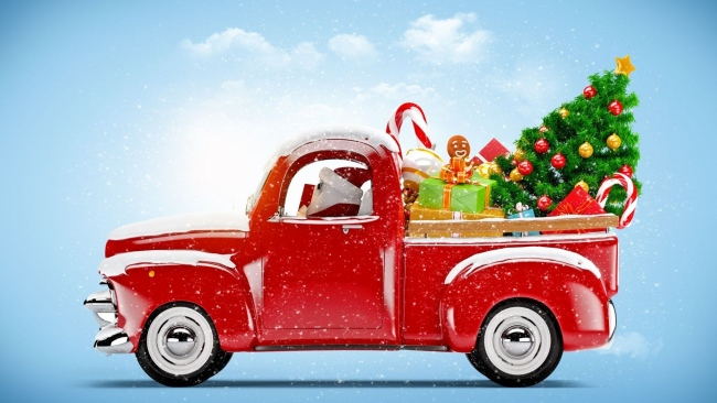 hd hintergrundbilder weihnachten auto weihnachtsbaum. Black Bedroom Furniture Sets. Home Design Ideas
