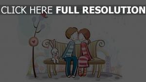 valentinstag romanze herz paar hase