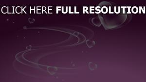 valentinstag romanze herz violett