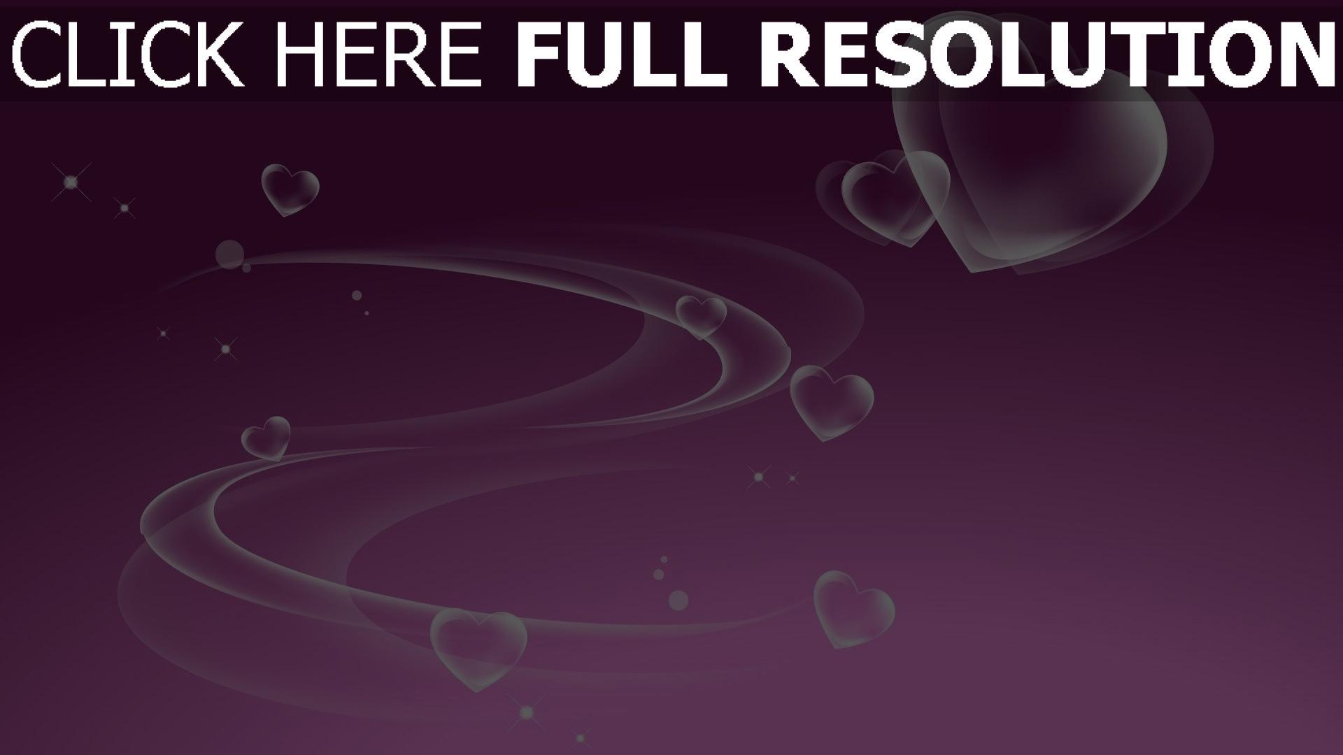 HD Hintergrundbilder valentinstag romanze herz violett ...