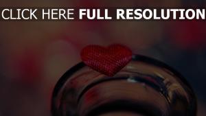 valentinstag herz glas
