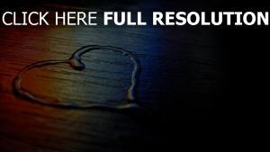 valentinstag herz wasser symbol
