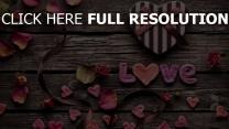 valentinstag herz herz blütenblätter briefe geschenk