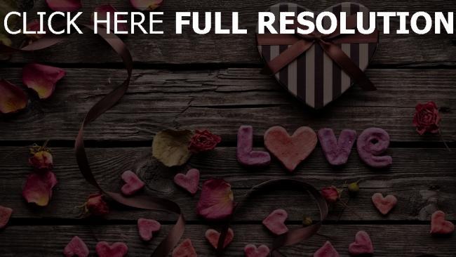 hd hintergrundbilder valentinstag herz herz blütenblätter briefe geschenk